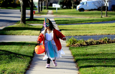 Sarah Nader - snader@shawmedia.com Kids got all dressed up to go trick or treating around Algonquin on Wednesday, October 31, 2012.