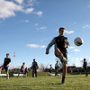 Wheaton Academy's Grant Stoneman of St. Charles practices with his soccer team at the school Wednesday. Wheaton Academy will compete in the IHSA Class 2A state semifinals Friday against Notre Dame of Peoria. (Sandy Bressner photo)