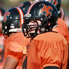 St. Charles East center Ben Smith watches special teams during practice Wednesday afternoon.