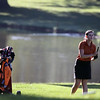 Jeff Krage – For Shaw Media<br /> St. Charles East's Darby Crane watches her fairway shot on the first hole during Monday's UEC conference tournament at St. Andrews Golf Course in West Chicago.<br /> West Chicago 9/30/13