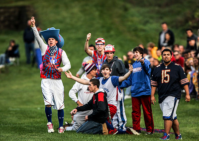 Sarah Nader- snader@shawmedia.com Dundee-Crown fans cheer on  the boys soccer team during Tuesday's FVC Valley match against Jacobs in Carpentersville October 15, 2013. Dundee-Crown defeated Jacobs, 5-0 and finished their regular season 19-0-1.