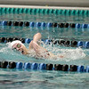 Anna O'Malley of St. Charles East competes in the 200-yard freestyle during their dual meet at St. Charles North Thursday. O'Malley won the heat.