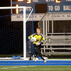Geneva goalkeeper Joe Mozden makes a save during their 1-0 3A regional semifinal loss to Neuqua Valley at home Tuesday night.