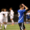 Geneva's Igor Honore reacts to a goal in the first half of their 1-0 3A regional semifinal loss to Neuqua Valley at home Tuesday night.