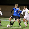 Geneva's Drew Klaus (16) goes after the ball during their 1-0 3A regional semifinal loss to Neuqua Valley at home Tuesday night.