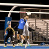 Drew Klaus (16) tries to head the ball into the net during the last minutes of their 1-0 3A regional semifinal loss to Neuqua Valley in Geneva Tuesday night.