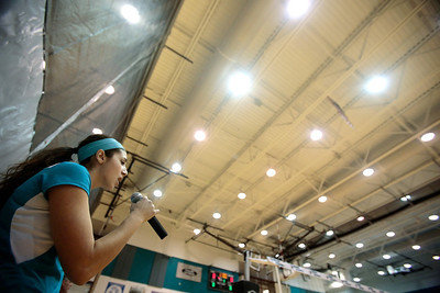 Kyle Grillot - kgrillot@shawmedia.com  Woodstock North senior Sam Abbate sings the nataional anthem before playing in the regional quarterfinal match between Woodstock North and Woodstock. Woodstock won the match.
