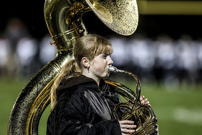 Sarah Nader- snader@shawmedia.com The Jacobs marching band plays during Friday's playoff game against Conant in Algonquin November 1, 2013. Conant defeated Jacobs, 42-35.