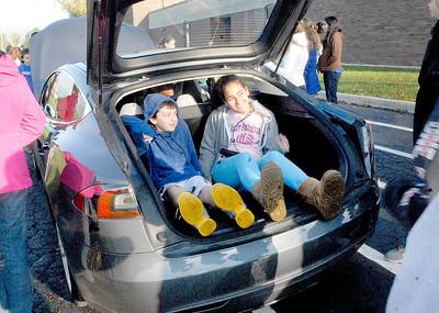 Green vehicles visit Westmont Jr. High