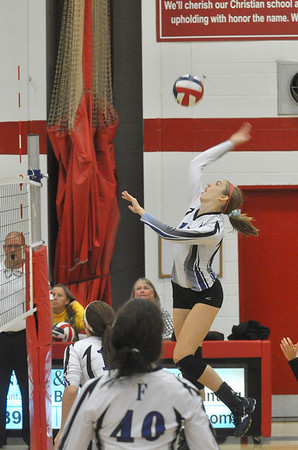 St. Francis and TC girls volleyball