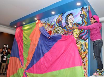 Juan Torres' Fuerza Youth Center mural revealed