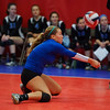 Geneva libero Payton Bellano (1) digs the ball against Benet during the Muzuno Cup Tournament at Great Lakes Center in Aurora, IL on Saturday, October 10, 2015 (Sean King for Shaw Media)