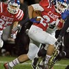 Marmion Academy's Nick Sevenich carries the ball against Fenwick on Sept. 30 in Aurora.