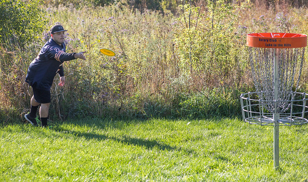 Mike Greene - For Shaw Media  during the 5th Annual Disc Golf Tournament Saturday, October 8, 2016 at Linda K. Fischer Park in Lake in the Hills. The event featured beginner and amateur divisions with top 2 team finishers being awarded prizes.