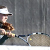Batavia's Maddie Durso hits a return while playing for the No. 2 singles championship during the UEC tournament at St. Charles East on Oct. 8.