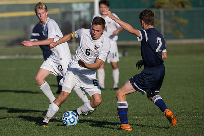 Jacobs' Noah Melick (6) moves around Cary Grove's Michael Madzarac (2) Tuesday, Oct. 18th, 2016 in the Class 3A Regional boys Soccer playoffs held at Crystal Lake South High School in Crystal Lake.Jacobs advances beating Cary Grove by the score of 2-0. KKoontz-for Shaw Media