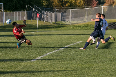 Jacobs' Noah Melick (6) scores a goal past Cary Grove defender Kyle Ives (18) and goalie Sergio Lemus (1) Tuesday, Oct. 18th, 2016 in the Class 3A Regional boys Soccer playoffs held at Crystal Lake South High School in Crystal Lake.Jacobs advances beating Cary Grove by the score of 2-0. KKoontz-for Shaw Media