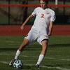 St. Charles East's Riley Arnold kicks the ball down field against West Chicago at the Class 3A Regional Final on Oct. 22 in St. Charles.