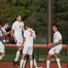 St. Charles East celebrates a goal against West Chicago at the Class 3A Regional Final on Oct. 22 in St. Charles.