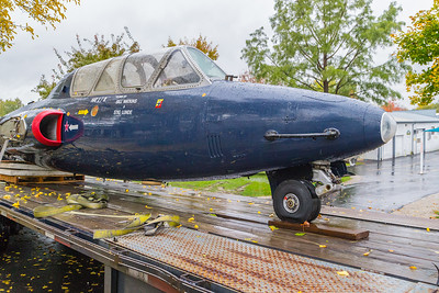 A French military jet, the Fouga CM-170 Magister is delivered and awaits assembly at the Volo Auto Museum in Volo IL, Wednesday, Oct. 26th, 2016. KKoontz – for Shaw Media