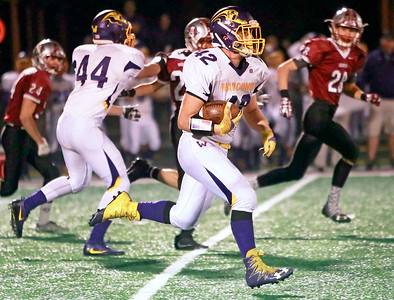 Candace H. Johnson-For Shaw Media Wauconda's Tyler Stankiewicz runs towards the end zone for an eighty-yard touchdown against Antioch in the third quarter at Antioch Community High School.