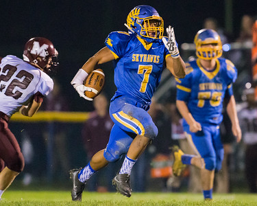 JJohnsburg's Alex Peete (7) breaks away from the Marengo defense for a touchdown Saturday, Oct. 29th, 2016 at Johnsburg High School in Johnsburg. Johnsburg went on to win the first round playoff game 56-14.  KKoontz- for Shaw Media