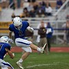 St. Charles North's Adam Durocher (2) kicks the ball for a field goal against Carmel on Oct. 29 at the Class7A playoff game in St. Charles.