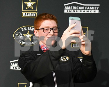 Downers Grove South's Noah Tunney receives recognition from the  the Army All American Marching Band