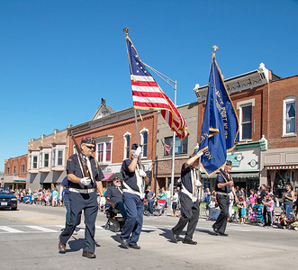 The colors are presented during the Settlers' Days parade Sunday, October 8, 2017 in Marengo. KKoontz- For Shaw Media