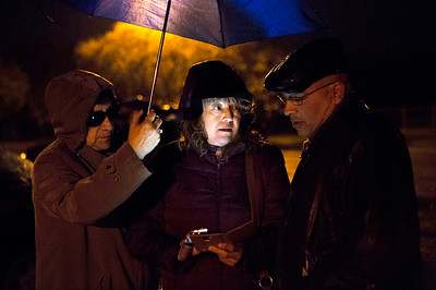 Mike Greene - For Shaw Media  Guille Marcial, center, of Woodstock, speaks with event organizer Carlos Acosta before the start of a prayer vigil held in support of immigrants detained in the McHenry County Jail and threatened Dreamers Sunday, October 22, 2017 at Bates Park in Woodstock. The event featured multiple speakers, prayers, and songs culminating in a candlelit walk to the McHenry County Jail.