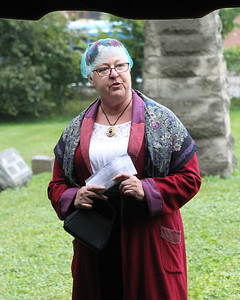 Gayle Gilliland, of Grayslake portrays Maria Morrill Rich (1818-1903) as she talks about the year in which she was born is when Illinois became a state during the 21st Annual Living History Tour at the Grayslake Cemetery. The cemetery walk was hosted by the Grayslake Historical Society. (9/30/18)