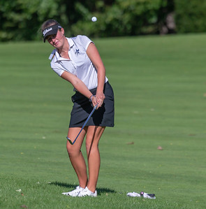 Saint Charles North's Megan Furtney chips onto the green during the Class 2A Girls Golf Regionals Wednesday, October 3, 2018 at Turnberry Country Club in Lakewood. Furtney finished in first place with an even par 71. KKoontz – For Shaw Media