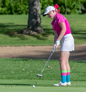 Crystal Lake Central's Molly Lyne putts from the green during the Class 2A Girls Golf Regionals Wednesday, October 3, 2018 at Turnberry Country Club in Lakewood. Lyne finished in second place with a 76. KKoontz – For Shaw Media