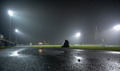 Fans and players were told to leave the stands and field after lightning was spotted in the area during the Marengo and Johnsburg football game Friday, October 5, 2018 in Johnsburg. The game was completed after two delays and Marengo came up with the conference win 16-14. KKoontz – For Shaw Media