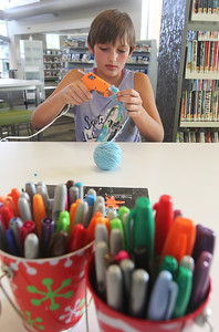Candace H. Johnson-For Shaw Media Audrey White, 12, of Wauconda makes a zombie string doll for Halloween during Middle School Makers at the Wauconda Area Library. (10/9/18)