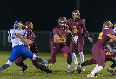 Richmond-Burton running back Mike Kaufman looks for running room against Johnsburg Friday, October 19, 2018 in Richmond. Richmond went on to win 31-21 with Kaufman scoring two touchdowns.  KKoontz – For Shaw Media
