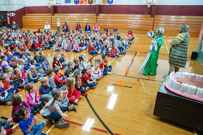 Children from kindergarten to third grade from Richmond Grade School attend a play Friday, October 26, 2018 in Richmond. The play, hosted by Delta Dental, promotes proper oral hygiene and eating habits. KKoontz – For Shaw Media
