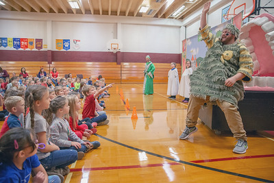 Children at Richmond Grade School watch a play about oral hygiene and proper brushing of their teeth Friday, October 26, 2018 in Richmond.  KKoontz – For Shaw Media