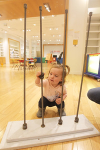 Candace H. Johnson-For Shaw Media Samantha Berube, 2, of Grayslake plays in the Busy Brains Children's Museum Pop Up Museum at Hawthorn Mall in Vernon Hills. Samantha was at the Pop Up Museum with her mother, Elizabeth. (10/12/19)