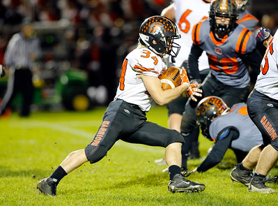 McHenry's Brody Hallin runs against Crystal Lake Central during their week 8 football game at Crystal Lake Central High School on Friday, Oct. 18, 2019, in Crystal Lake.
