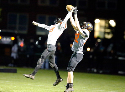 Crystal Lake Central's Caleb Noennig catches a touchdown pass against McHenry during their week 8 football game at Crystal Lake Central High School on Friday, Oct. 18, 2019, in Crystal Lake.