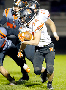 McHenry's Brody Hallin runs the ball agasint Crystal Lake Central during their week 8 football game at Crystal Lake Central High School on Friday, Oct. 18, 2019, in Crystal Lake.