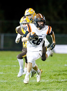 Crystal Lake Central's Jake White runs the ball against Jacobs during their week 9 football game at Jacobs High School on Friday, Oct. 25, 2019, in Algonquin.