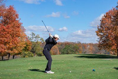 DeKalb's Brett Paeglow tees off of hole No. 1 in the Class 3A Rockford Sectional golf tournament on Thursday, Oct. 15, 2020. Randy Stukenberg for Shaw Media