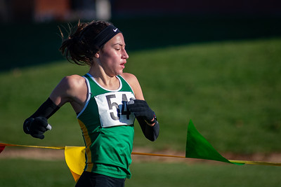 Crystal Lake South's Isabella Gonzalez runs in the 2A Belvidere Regional XC race on Saturday, Oct. 24, 2020. Gonzalez and the team finished first to take the regional title. Randy Stukenberg for Shaw Media
