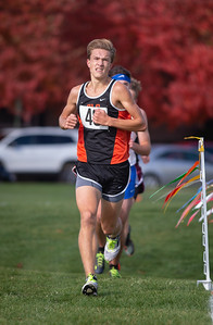 Crystal Lake Central's Karson Hollander runs in the 2A Belvidere Regional XC race on Saturday, Oct. 24, 2020. Hollander took second in the race helping his team to a 2A Regional title. Randy Stukenberg for Shaw Media
