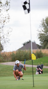 in the Girls Class 2A Belvidere Sectional golf tournament on Monday, Oct. 4, 2021 at Timber Pointe Golf Club near Poplar Grove. Randy Stukenberg for Shaw Media