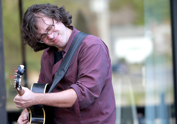 Jazz guitarist Tim Fitzgerald plays on the patio of Bistro One West Thursday evening as part of the St. Charles Jazz Weekend sponsored by the St. Charles Downtown Partnership.