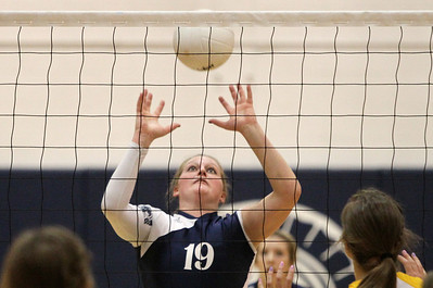 Mike Greene - mgreene@shawmedia.com Cary-Grove's Mallory Wilczynski prepares to hit the ball over the net during a match against Crystal Lake South Thursday, September 27, 2012 at Cary-Grove High School in Cary. Crystal Lake South (19-6) defeated Cary-Grove (10-9) in straight sets.