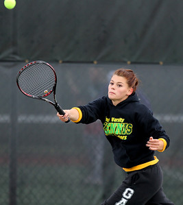 Mike Greene - mgreene@shawmedia.com Crystal Lake South's Jacqueline Boorom returns a volley during a first round doubles match against Cary-Grove in the Cary-Grove Invite Saturday, September 22, 2012 at Cary-Grove High School. Crystal Lake South won the match 6-1, 6-0.